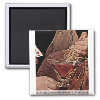 The Cardsharp Karoass With Details 2 Inch Square Magnet