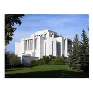 The Cardston Alberta LDS Temple Postcard