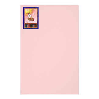 The Carefree Cat Personalized Stationery