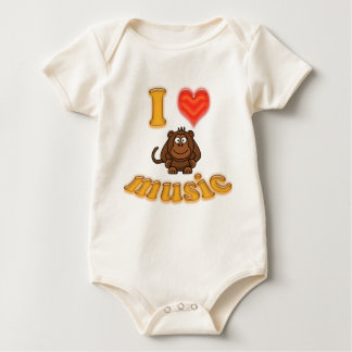 The Cariad Collection - I heart Monkey Music Baby Bodysuit