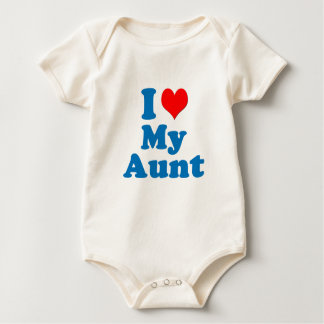 The Cariad Collection - I Heart My Aunt Baby Bodysuit