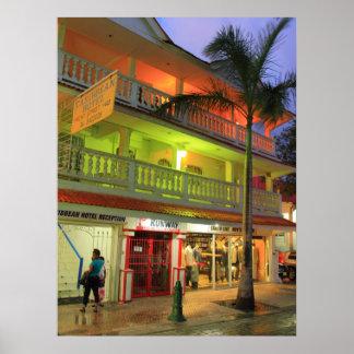 The Caribbean Hotel, Philipsburg, St. Maarten Poster