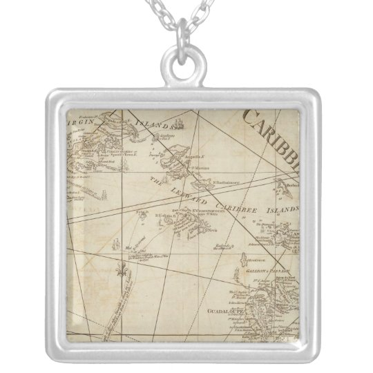 The Caribbean Islands, the Virgin Islands Silver Plated Necklace