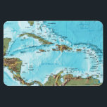 """The Caribbean (map) Magnet<br><div class=""""desc"""">A map of the Caribbean islands,  and land masses forming the boundries of the Caribean Sea</div>"""