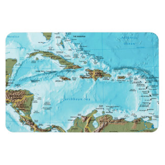 The Caribbean (map) Flexible Magnet