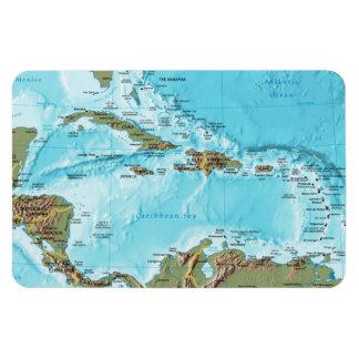 The Caribbean (map) Rectangular Photo Magnet