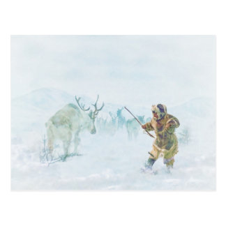 The Caribou Hunt by Shawna Mac Post Cards