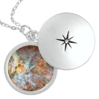 The Carina Nebula by Hubble Sterling Silver Necklace