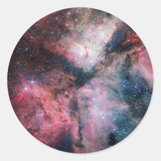 The Carina Nebula imaged by the VLT Survey Telesco Classic Round Sticker