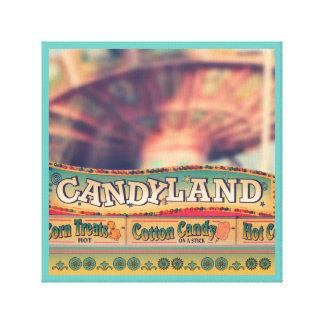 The Carnival Amusement Park Food Canvas Canvas Print