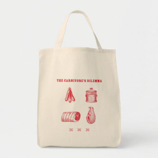 The Carnivore's Dilemma Organic Grocery Tote Grocery Tote Bag