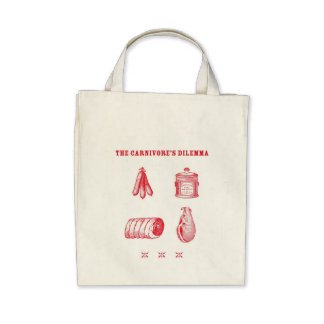 The Carnivore's Dilemma Organic Grocery Tote Canvas Bag