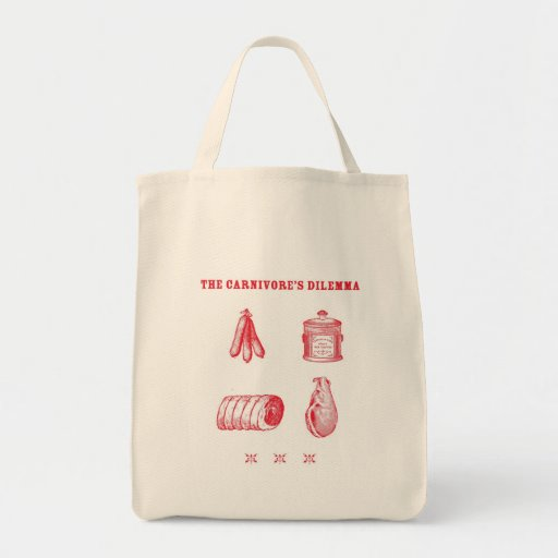 The Carnivore's Dilemma Tote Grocery Tote Bag