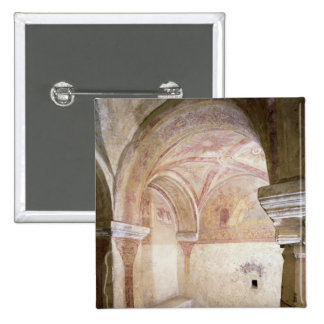 The Carolingian frescoes in the inner crypt Pinback Button