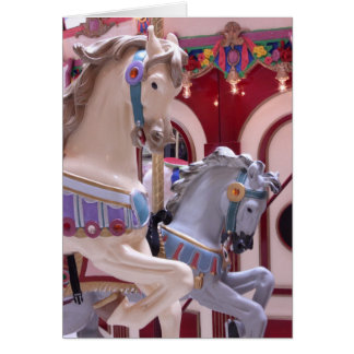 The Carousel Horse Card