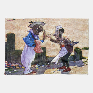 The Carpenter and the Walrus - Alice in Wonderland Towel