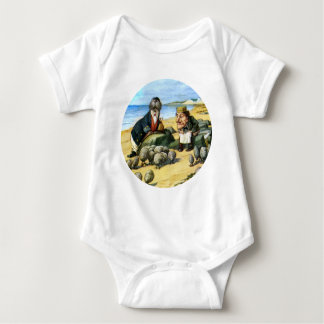The Carpenter and the Walrus Consider Oysters Baby Bodysuit