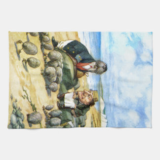 The Carpenter and the Walrus in Wonderland Kitchen Towels