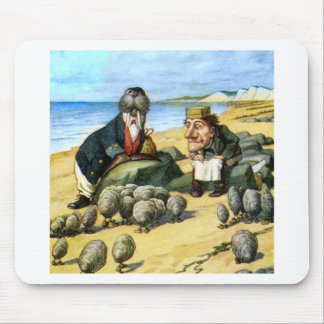 The Carpenter and Walrus Consider Oysters Mouse Pad