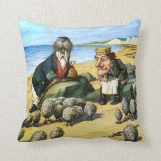 The Carpenter and Walrus in Wonderland Throw Pillow
