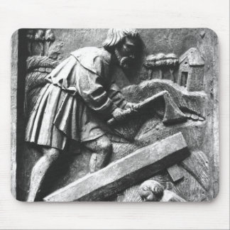 The Carpenter, detail from an altarpiece Mouse Pad