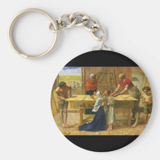 The Carpenter's Shop by John Everett Millais Keychain