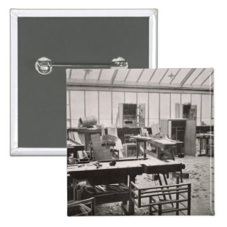 The Carpenter's Workshop, from the Workshops of th 2 Inch Square Button