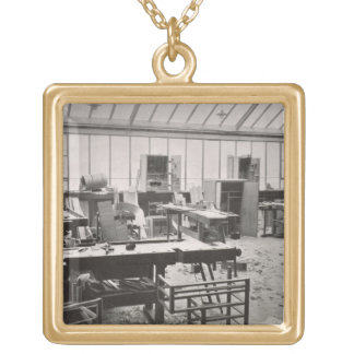 The Carpenter's Workshop, from the Workshops of th Gold Plated Necklace