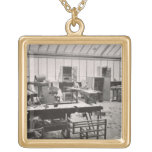 The Carpenter's Workshop, from the Workshops of th Square Pendant Necklace