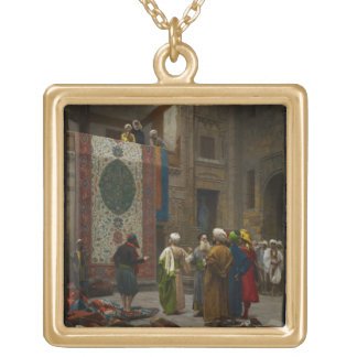 The Carpet Merchant, c.1887 (oil on canvas) Gold Plated Necklace