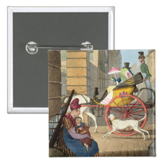The carriage entrance, from 'Twenty-four Subjects, Pinback Button