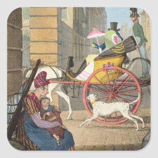 The carriage entrance, from 'Twenty-four Subjects, Square Sticker