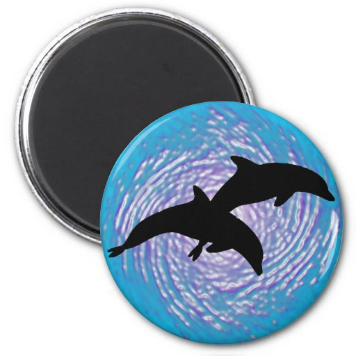 THE CARRIBEAN DOLPHIN REFRIGERATOR MAGNET