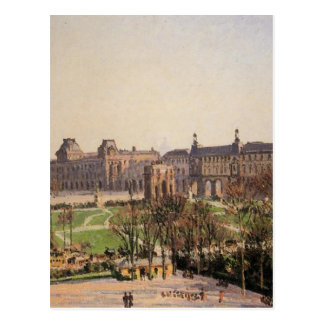 The Carrousel, Afternoon by Camille Pissarro Postcard
