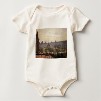 The Carrousel, Autumn, Morning by Camille Pissarro Bodysuit