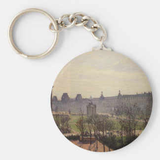 The Carrousel, Autumn, Morning by Camille Pissarro Keychain