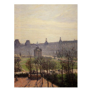 The Carrousel, Autumn, Morning by Camille Pissarro Postcard