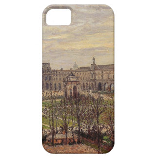 The Carrousel, Grey Weather by Camille Pissarro iPhone SE/5/5s Case