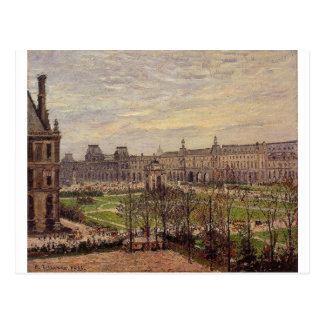 The Carrousel, Grey Weather by Camille Pissarro Postcard