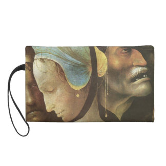 The Carrying of the Cross by Hieronymus Bosch Wristlet Clutches