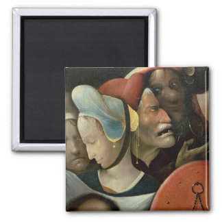 The Carrying of the Cross showing three faces Refrigerator Magnets