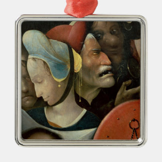 The Carrying of the Cross showing three faces Metal Ornament
