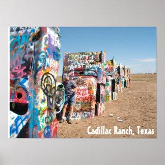 The Cars at Cadillac Ranch, Texas Posters
