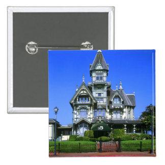 The Carson Mansion in Eureka, California Pinback Button