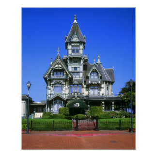 The Carson Mansion in Eureka, California Poster