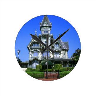 The Carson Mansion in Eureka, California Round Clock