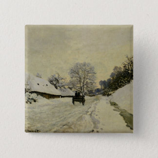 The Cart, or Road under Snow at Honfleur, 1865 Button