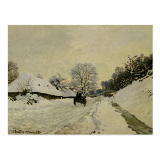 The Cart, or Road under Snow at Honfleur, 1865 Postcard