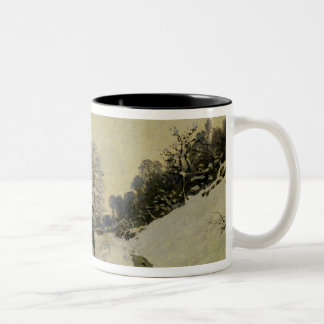 The Cart, or Road under Snow at Honfleur, 1865 Two-Tone Coffee Mug
