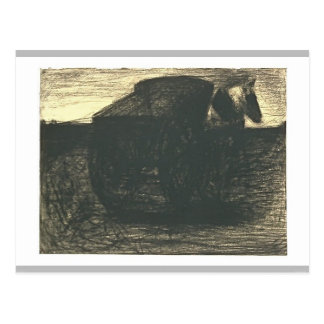The cart or the horse hauler by Georges Seurat Post Cards